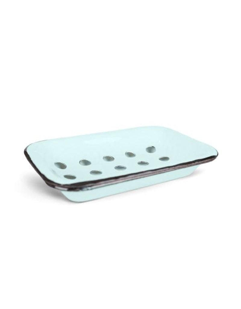 FinchBerry Farmhouse Blue/Aqua Metal Soap Dish