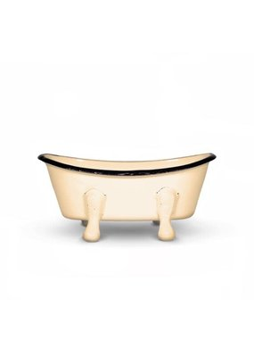 FinchBerry Farmhouse Mustard Metal Bathtub Soap Dish