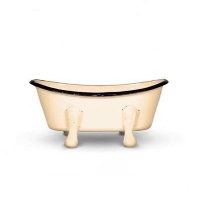 FinchBerry Farmhouse Mustard Metal Bathtub Soap Dish
