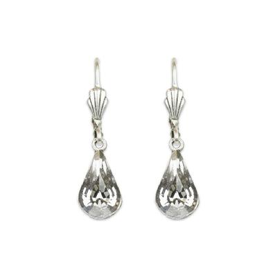 Anne Koplik Designs Silver Crystal Teardrop Earrings