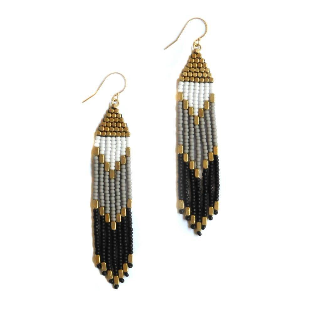 Didi Jewerly Project Brass Chevron Tassel Bead Earring