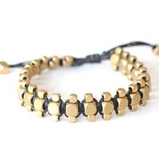 Didi Jewerly Project Brass Kushi Macrame Pull Bracelet