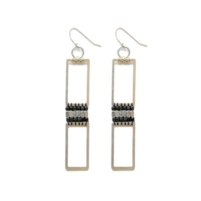 Didi Jewerly Project Silver + Ox Long Bead Earring
