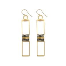 Didi Jewerly Project Brass + ox Long Bead Earring