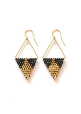 Didi Jewerly Project Mixed Metal Diamond Bead Earring