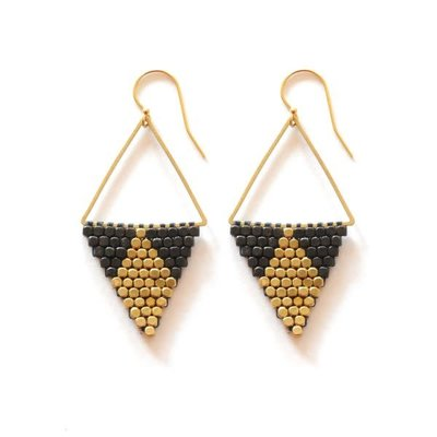 Didi Jewerly Project Mixed Metal Diamond Bead Earring