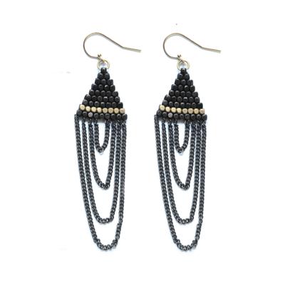 Didi Jewerly Project Ox + Brass Triange Tassel Earring