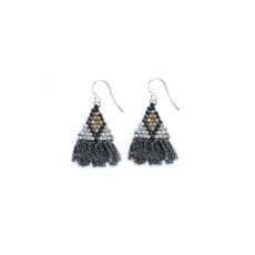 Didi Jewerly Project Mixed Metal Diamond Short Tassel Earring
