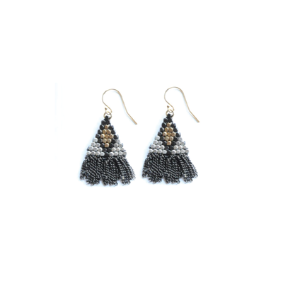 Didi Jewerly Project Mixed Metal Diamond Short Tassel Earring