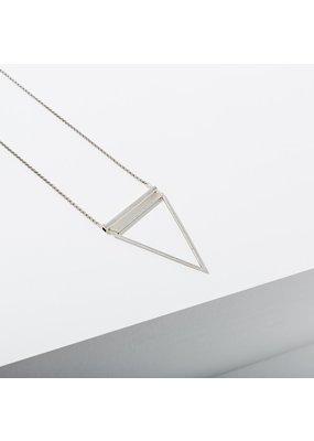Larissa Loden Silver Barred Triangle Necklace