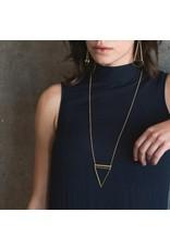 Larissa Loden Gold Chain Barred Triangle Necklace