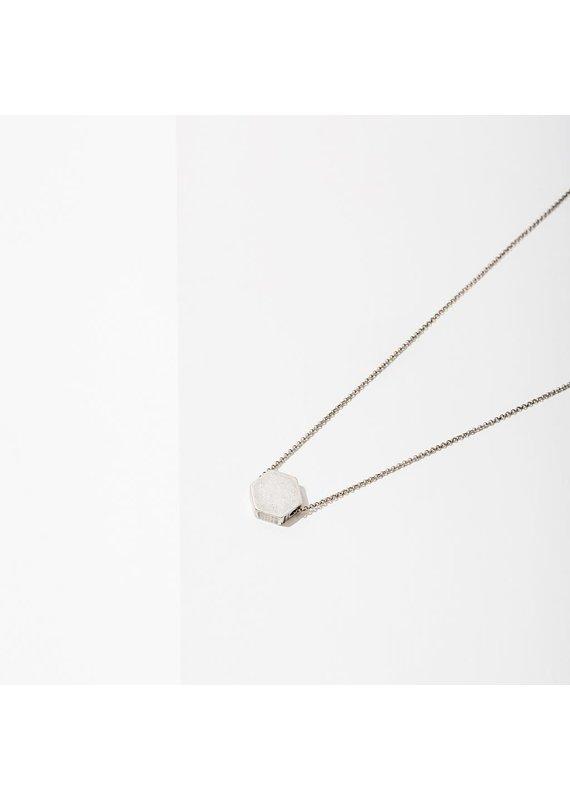 Larissa Loden Silver Hexagon Polymath Necklace