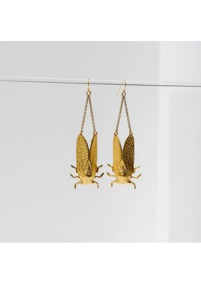 Larissa Loden Brass Cicada Earring