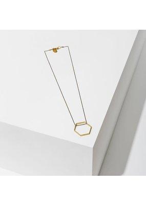 Larissa Loden Medium Hexagon Horizon Necklace