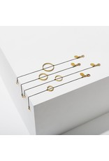 Larissa Loden Brass Extra Small Horizon Circle Bracelet