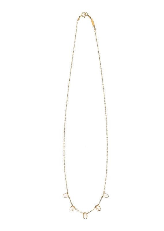 CHAN LUU Gold Citrine Short Necklace