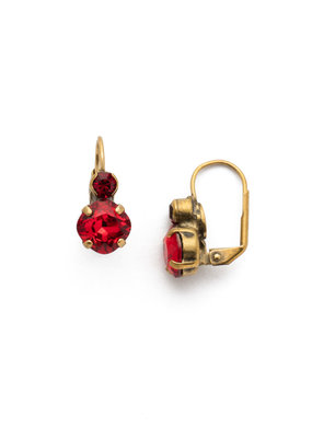 Sorrelli Sansa Red French Wire Earring