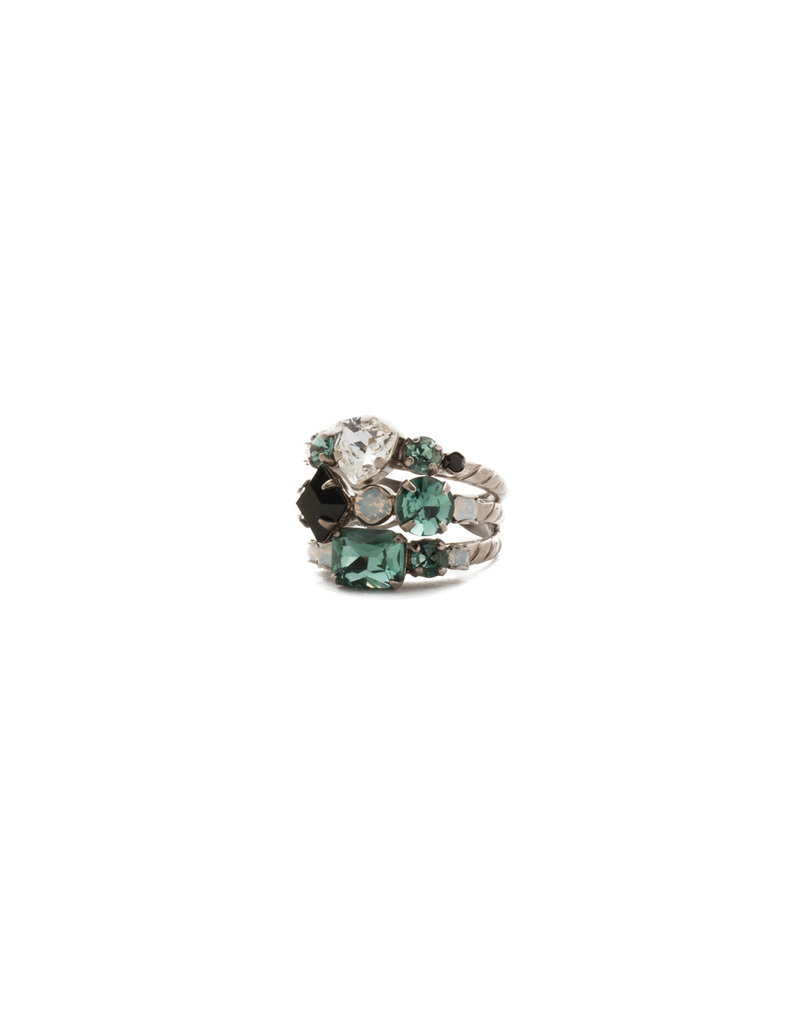 Sorrelli Game Day Green Sedge Stacked Ring
