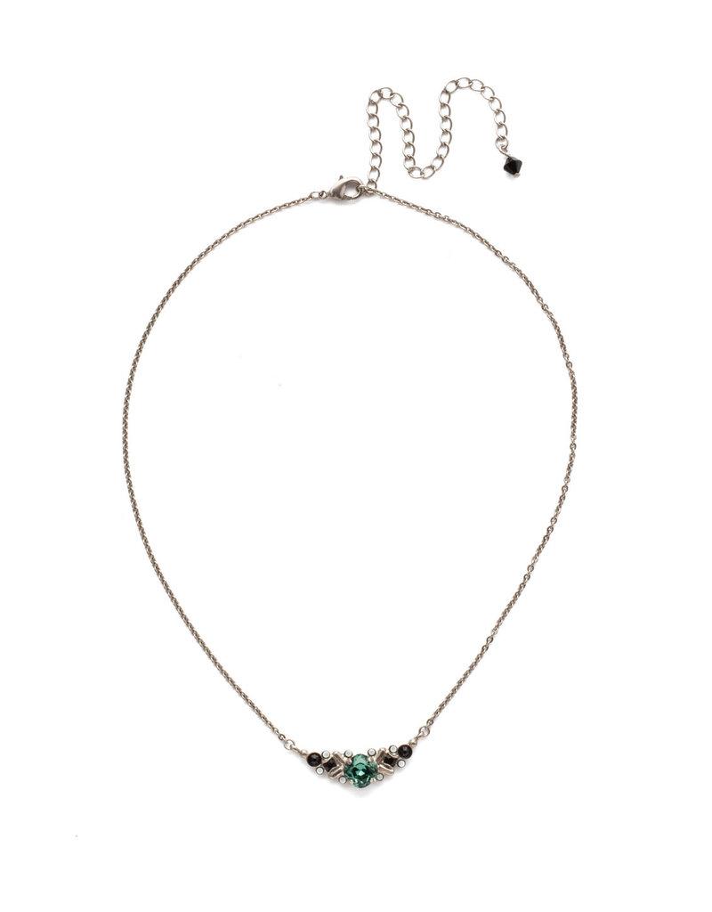 Sorrelli Game Day Green Aralia Delicate Pendant Necklace
