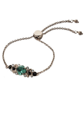 Sorrelli Game Day Green Rosina Slider Bracelet
