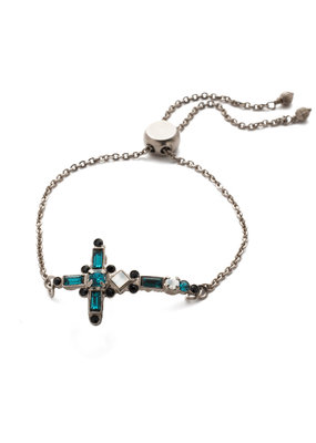 Sorrelli Game Day Green Venezia Slider Bracelet