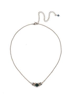 Sorrelli Glory Blue Aralia Delicate Pendant Necklace