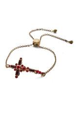 Sorrelli Sansa Red Venezia Slider Bracelet