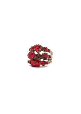 Sorrelli Sansa Red Sedge Stacked Ring
