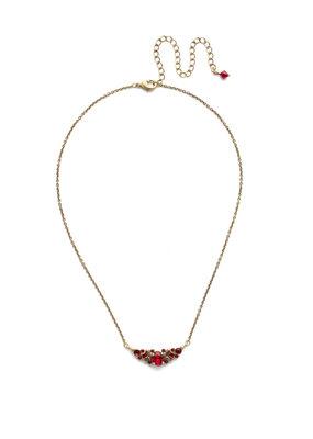 Sorrelli Sansa Red Aralia Delicate Pendant Necklace