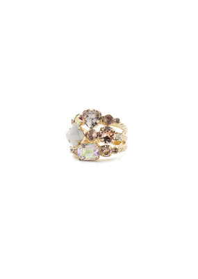 Sorrelli Silky Clouds Sedge Stacked Ring