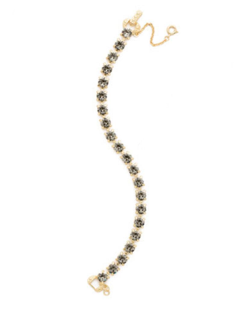 Sorrelli Black Diamond Repeating Round Crystal Line Bracelet