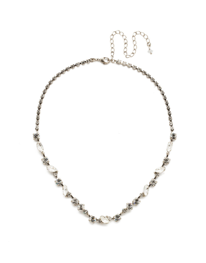 Sorrelli Clear Crystal Simply Stated Line Necklace