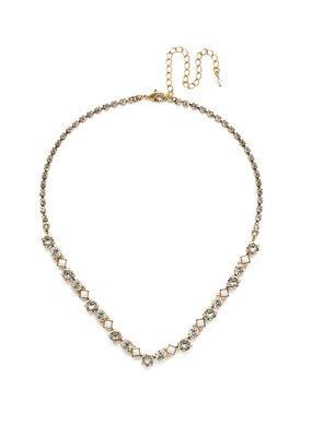 Sorrelli Crystal Dazzling Diamonds Line Necklace