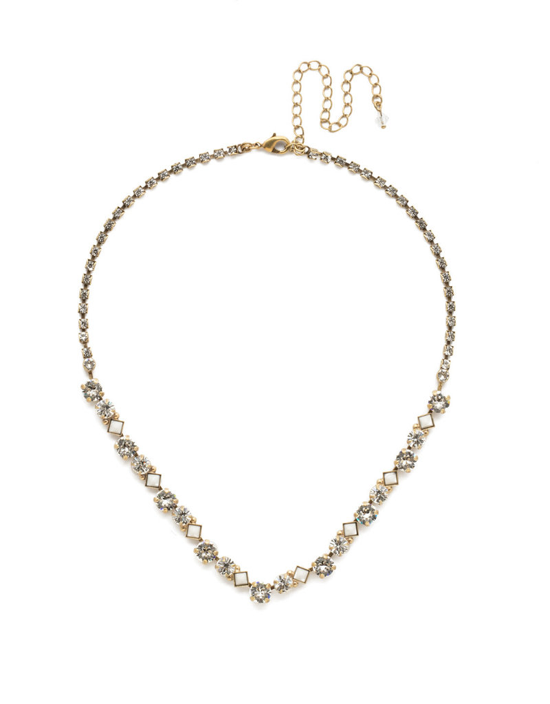 Sorrelli Crystal Dazzling Diamonds Line Necklace