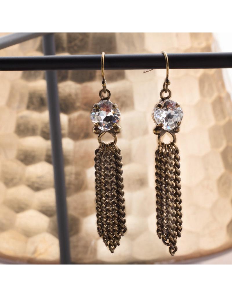 Sorrelli Crystal Chain Gang Earring