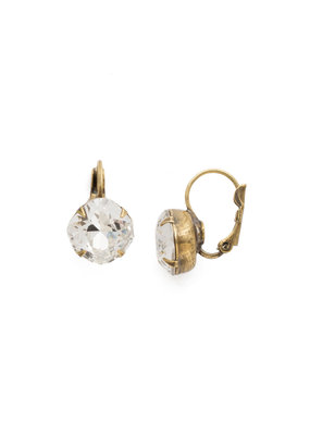 Sorrelli Crystal Cushion Cut French Wire Earrings