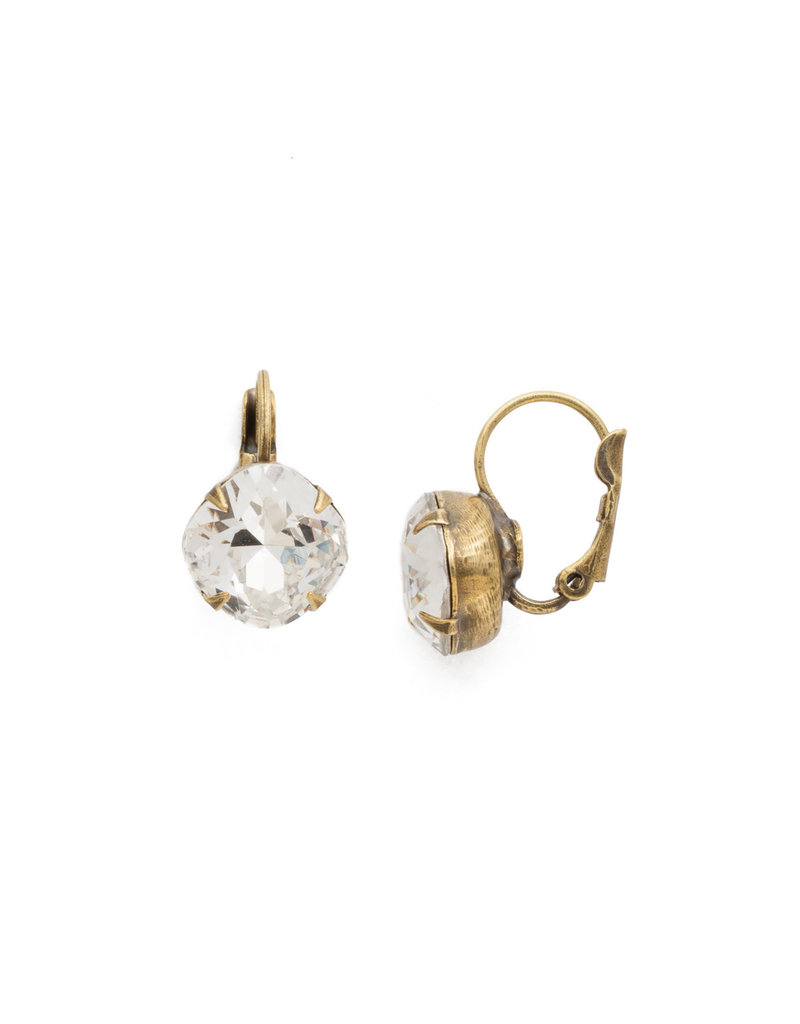 Sorrelli Crystal Cushion Cut French Wire Earrings