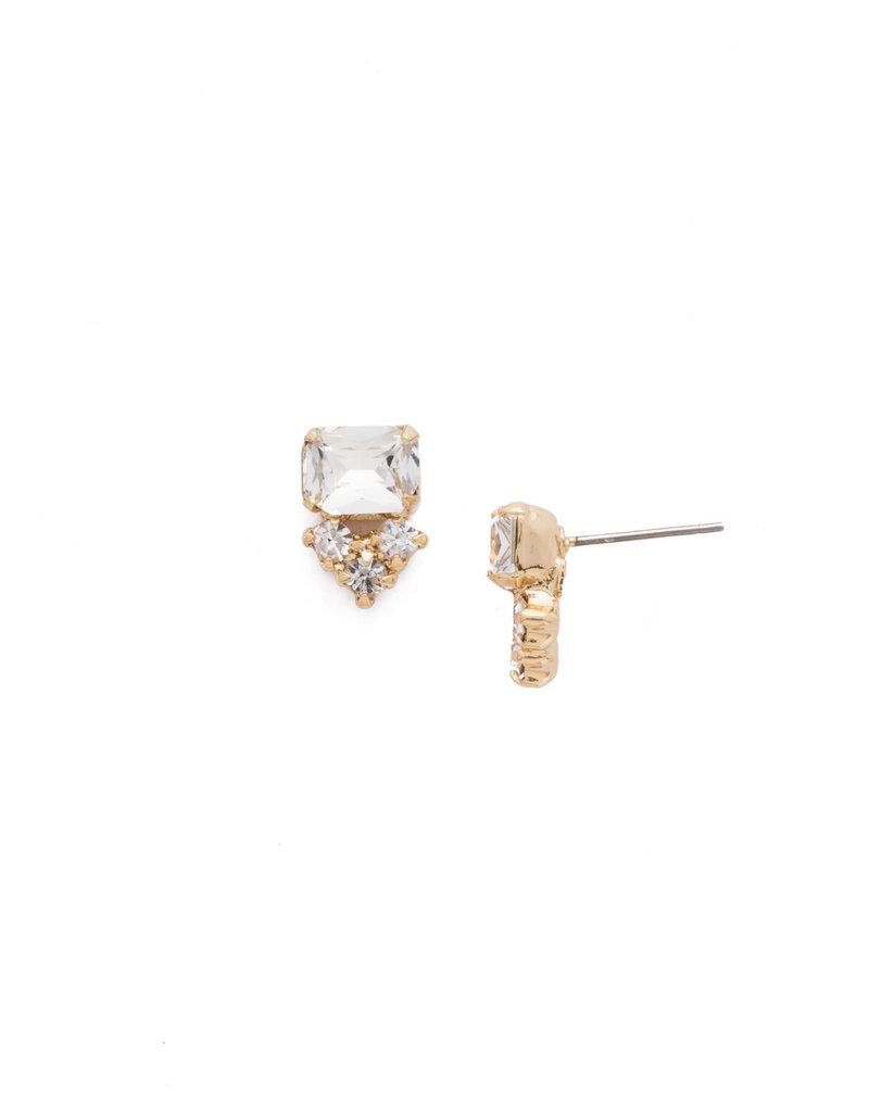 Sorrelli Crystal Truncated Cluster Post Earring
