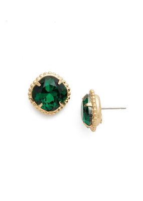 Sorrelli Emerald Cushion-Cut Solitaire Earring