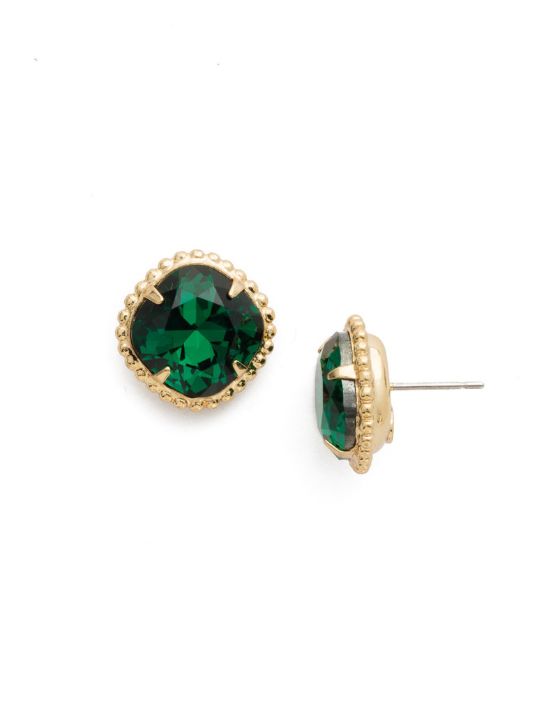 Sorrelli Emerald Cushion-Cut Solitaire Earring