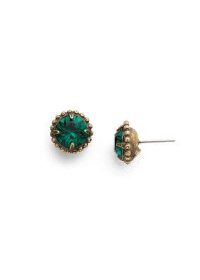 Sorrelli Emerald Simplicity Stud Earring
