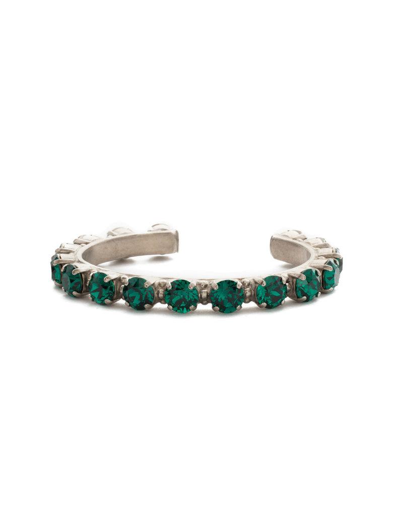 Sorrelli Emerald Riveting Romance Cuff Bracelet