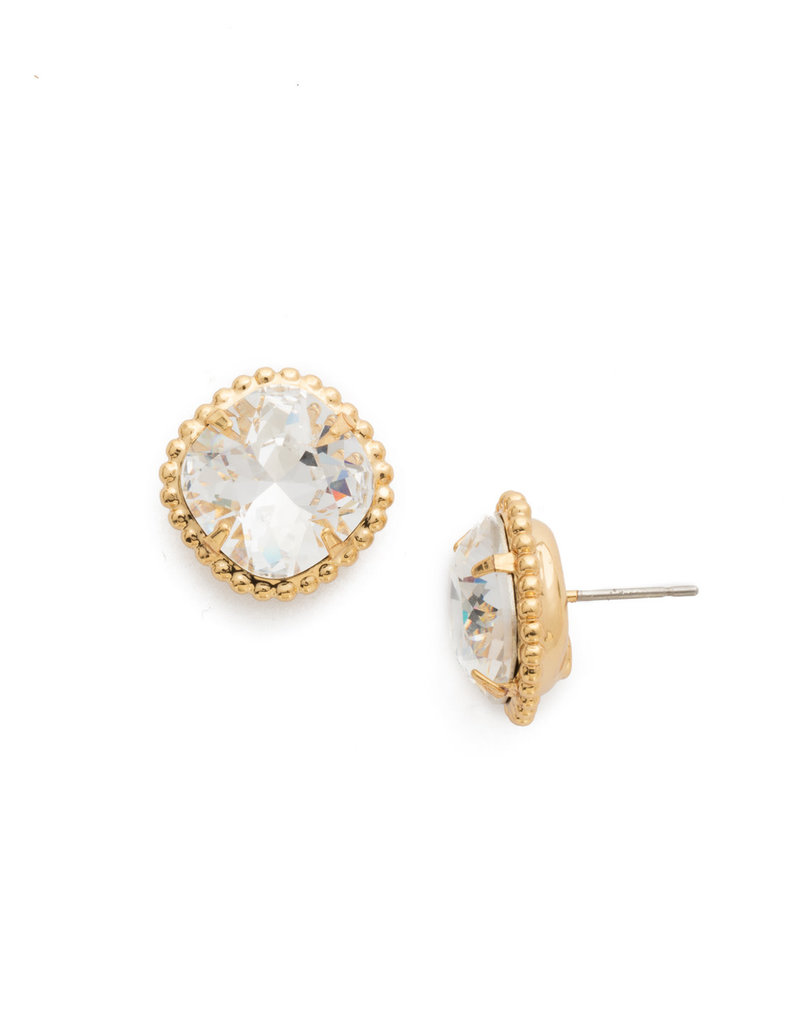 Sorrelli Crystal Cushion-Cut Solitaire Earring