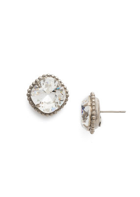 Sorrelli Crystal Cushion-Cut Solitaire Earring