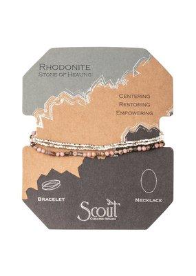 Scout Rhodonite Silver Delicate Stone Wrap