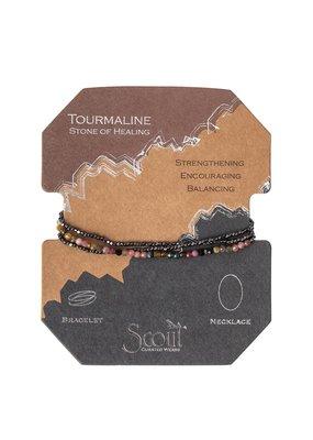 Scout Tourmaline Hematite Delicate Stone Wrap