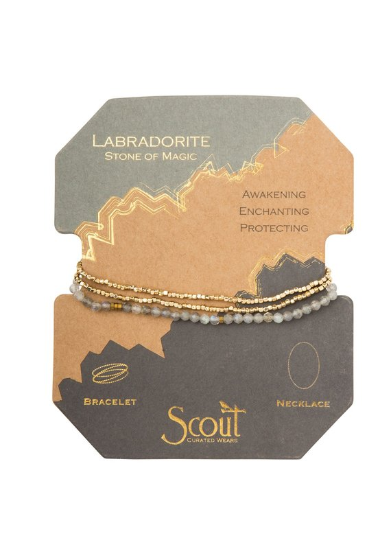 Scout Labradorite Gold Delicate Stone Wrap