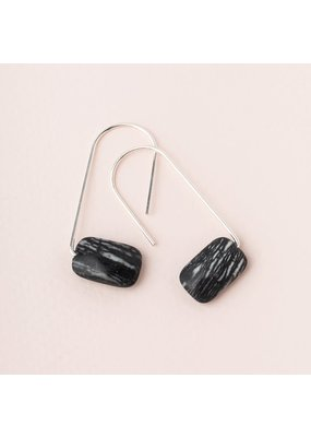 Scout Piscasso Silver Floating Stone Earring