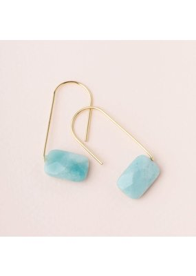 Scout Amazonite Gold Floating Stone Earring