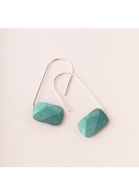 Scout Turquoise Silver Floating Stone Earring